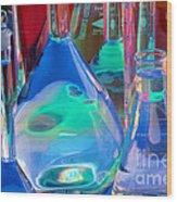 Laboratory Glassware Wood Print by Charlotte Raymond