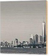 Manhattan Downtown Skyline Wood Print