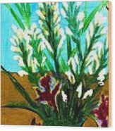 My Flowers Wood Print
