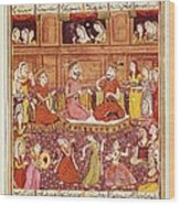 Shahnameh. The Book Of Kings. 16th C Wood Print by Everett