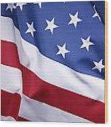 Usa Flag Wood Print