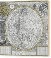 1700 Celestial Planisphere Wood Print by Daniel Hagerman