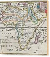 1710 De La Feuille Map Of Africa Wood Print