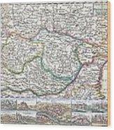 1710 De La Feuille Map Of Transylvania  Moldova Wood Print
