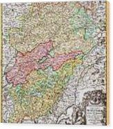 1716 Homann Map Of Burgundy France Geographicus Burgundiae Homan 1716 Wood Print