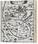 1719 Mallet Map Of The Source Of The Nile Ethiopia Abyssinia Geographicus Nil Mallet 1719 Wood Print
