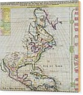 1720 Chatelain Map Of North America Geographicus Amerique Chatelain 1720 Wood Print