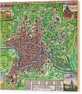 1721 John Senex Map Of Rome Geographicus Rome Sennex 1721 Wood Print