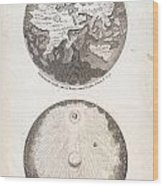 1728 Calmet Map Of The Ancient World Showing The Creation Of The Universe Geographicus Ancientworld  Wood Print