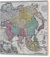 1730 C Homann Map Of Asia Geographicus Asiae Homann 1730 Wood Print