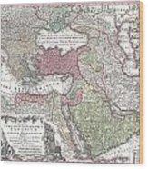 1730 Seutter Map Of Turkey Ottoman Empire Persia And Arabia Wood Print