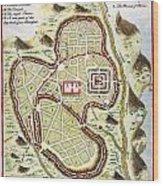 1730 Street Map Or Plan Of Jerusalem Geographicus Jerusalem Uk 1730 Wood Print