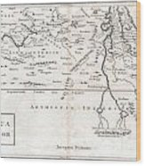 1730 Toms Map Of Central Africa Wood Print