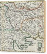 1738 Ratelband Map Of The Balkans Wood Print
