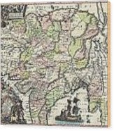1740 Seutter Map Of India Pakistan Tibet And Afghanistan Wood Print