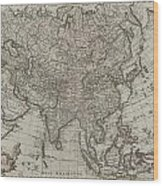 1745 Asia Map Wood Print