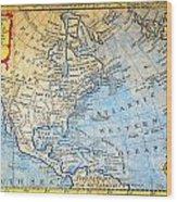 1747 Bowen Map Of North America Geographicus Northamerica Bowen 1747 Wood Print