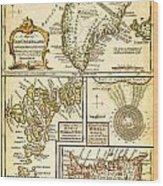 1747 Bowen Map Of The North Atlantic Islands Greenland Iceland Faroe Islands Maelstrom Geographicus  Wood Print