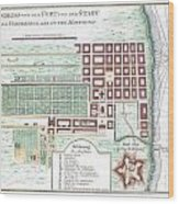 1750 Bellin Map Of Cape Town South Africa Wood Print