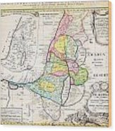 1750 Homann Heirs Map Of Israel Palestine Holy Land 12 Tribes Geographicus Palestina Homannheirs 175 Wood Print
