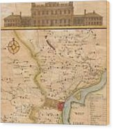 1752  Scull  Heap Map Of Philadelphia And Environs Wood Print