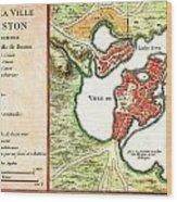 1756 Bellin Map Of Boston Massachusetts Geographicus Boston2 Bellin 1756 Wood Print