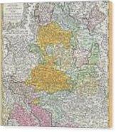 1761 Homann Heirs Map Of Westphalia  Wood Print