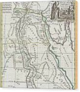 1762 Bonne Map Of Egypt  Wood Print