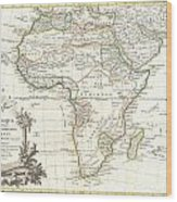 1762 Janvier Map Of Africa Wood Print
