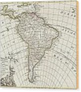 1762 Janvier Map Of South America  Wood Print