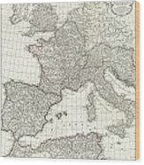 1763 Anville Map Of The Western Roman Empire Wood Print