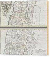 1763 De Lisle Map Of The Holy Land Wood Print