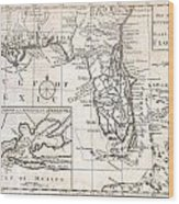 1763 Gibson Map Of East And West Florida Wood Print by Paul Fearn
