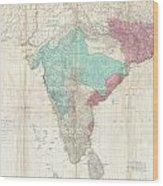 1768 Jeffreys Wall Map Of India And Ceylon Wood Print