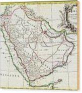 1771 Bonne Map Of Arabia Geographicus Arabia Bonne 1771 Wood Print