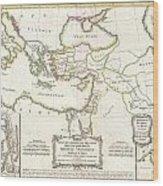 1771 Bonne Map Of The New Testament Lands Holy Land And Jerusalem Wood Print