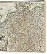 1771 Rizzi Zannoni Map Of Germany And Poland Wood Print