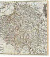 1771 Zannoni Map Of Poland And Lithuania Wood Print