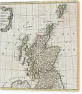 1772 Bonne Map Of Scotland  Wood Print
