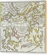 1772 Vaugondy Diderot Map Of Alaska The Pacific Northwest And The Northwest Passage Wood Print by Paul Fearn