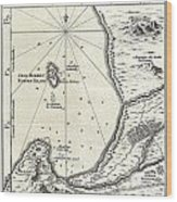1773 Bellin Map Of The Cape Of Good Hope Capetown South Africa Wood Print