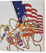 1776 Happy People Wood Print by Glenn Calloway