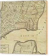1776 New York City Map Wood Print