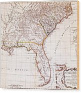 1776 - The Seat Of War In The Southern British Colonies Wood Print by Kayleigh Green