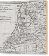 1780 Raynal And Bonne Map Of Holland And Belgium Wood Print