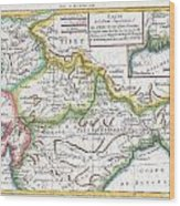 1780 Raynal And Bonne Map Of Northern India Wood Print
