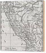 1780 Raynal And Bonne Map Of Peru Wood Print