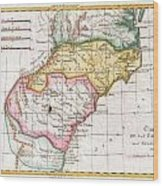 1780 Raynal And Bonne Map Of Southern United States Wood Print