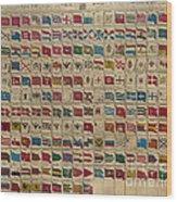 1783 World Naval Flags Wood Print