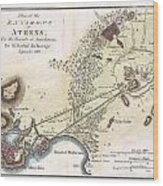 1784 Bocage Map Of The City Of Athens In Ancient Greece Wood Print